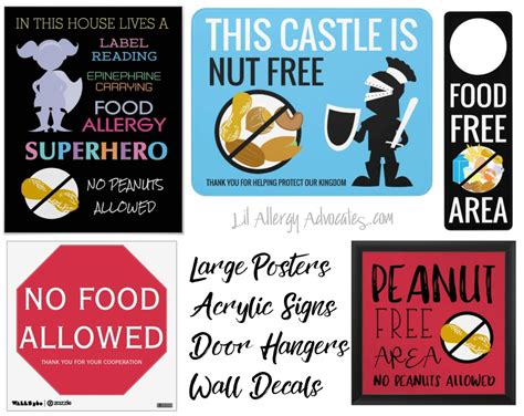 printable allergy poster free printable nut free school signs lil allergy advocates