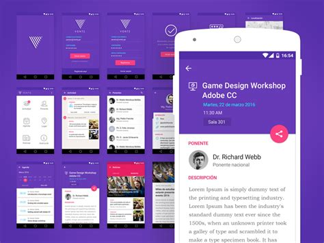 android layout event event ui kit for android uplabs