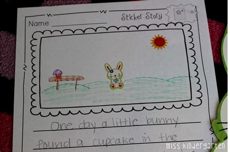 Sticker Story Kindergarten by All Done Now What Part Two Miss Kindergarten
