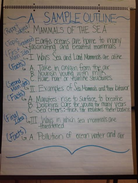 5th grade research paper sle of an outline for a research paper 5th grade