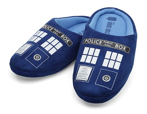 doctor who slippers pantoufle doctor who tardis cadeau doctor who