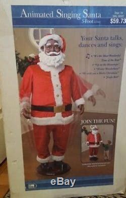 karaoke santa claus animated african american ft singing christmas