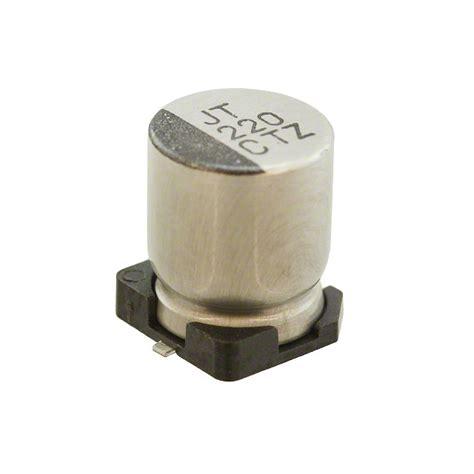 rubycon smd capacitor 16tzv220m6 3x8 rubycon capacitors digikey