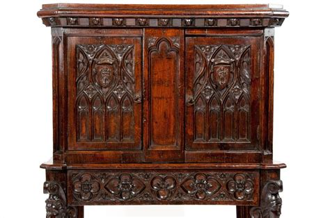 Gotham Cabinet by Oak 19th Century Cabinet On Stand At 1stdibs