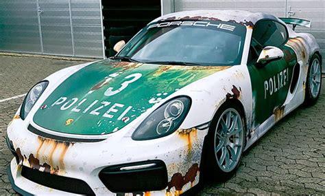 Auto Folierung Polizei by Porsche Cayman Gt4 Tuning Von Wrap Style Autozeitung De