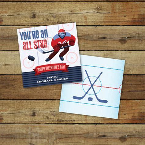 printable hockey s day card custom all