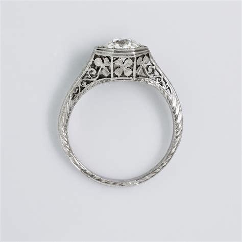 vintage filigree platinum ring claude morady