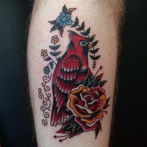 cardinal rose tattoo black and cardinal by nick luit