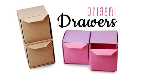 How To Make A Box With Chart Paper - origami pull out drawers tutorial diy