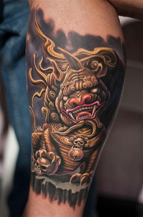 tattoo golden dragon golden dragon tattoo on leg tattooimages biz