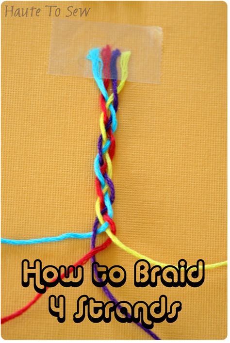 how to braid 4 strand rope haute to sew how to braid with 4 strands