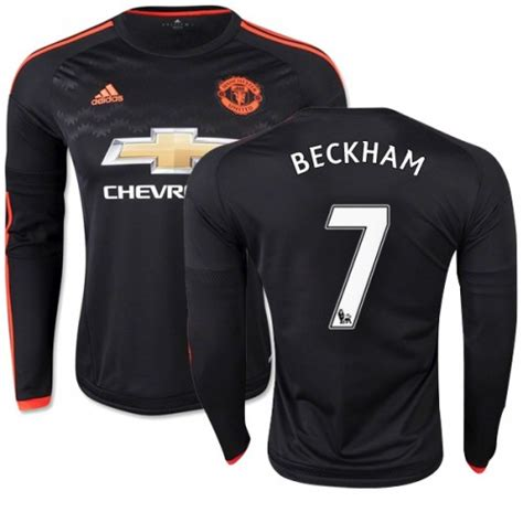 Jersey Original Manchester United 3rd Ls Sleeve s 7 david beckham manchester united fc jersey 15 16 football club adidas authentic