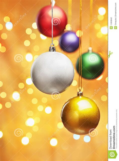 colorful christmas ornaments stock photography image