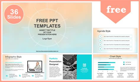 Pastel Watercolor Painted Powerpoint Template Powerpoint Design Template