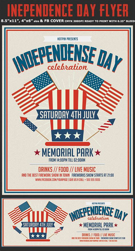 Independence Day Flyer Template Flyerstemplates In July Flyer Template