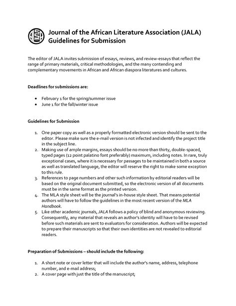 manuscript cover letter cover letter for manuscript to journal sle