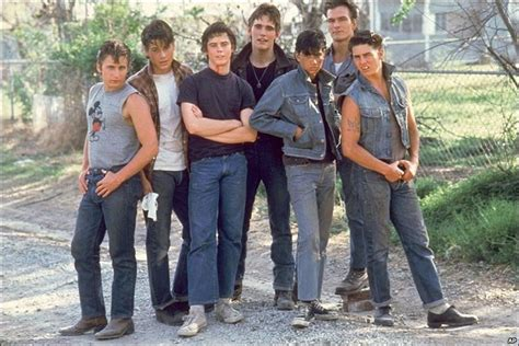 outsiders coppola s new version starring rob lowe bbc news entertainment in pictures patrick swayze