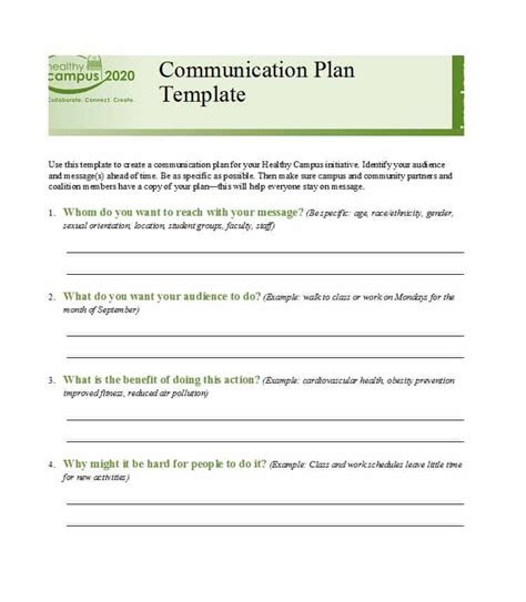 37 Simple Communication Plan Exles Free Templates ᐅ Template Lab Free Communication Plan Template