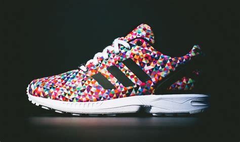 adidas colorful shoes new adidas originals zx flux multi color sneakers