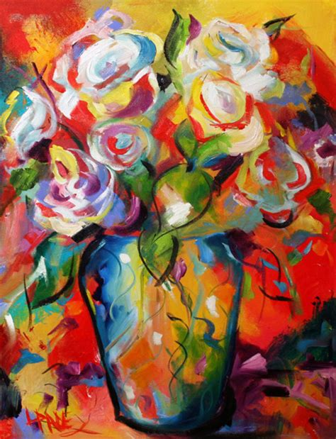 picasso paintings flowers contemporary artist laurie pace hints of