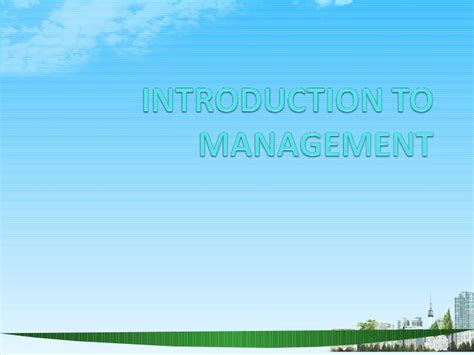 International Business Management Ppt For Mba by Introduction To Management Ppt Bec Doms Bagalkot Mba