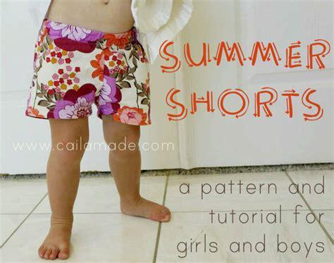 toddler shorts pattern free kids summer shorts tutorial sewtorial