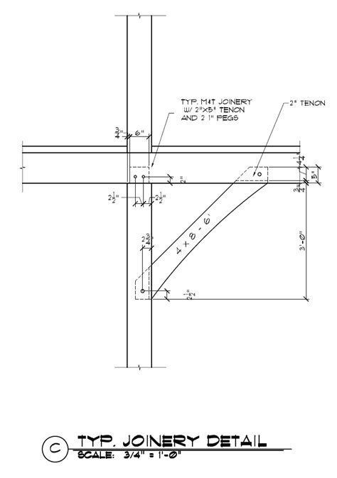 Temporary Awnings Timber Frame Knee Brace Joinery