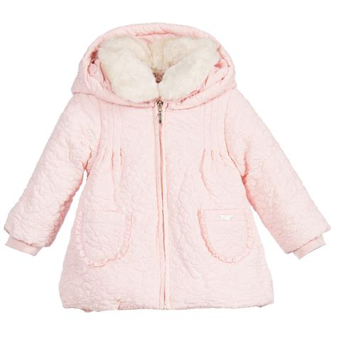 Prime Jacket Baby Pink mayoral chic baby pink floral padded coat childrensalon