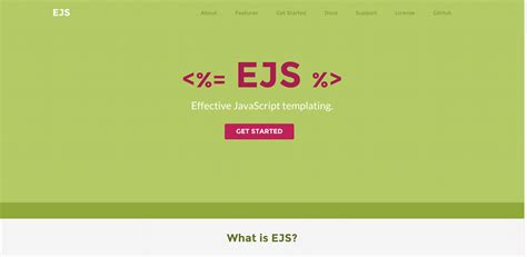 Ejs Template top 10 templating engines for javascript 2017 colorlib