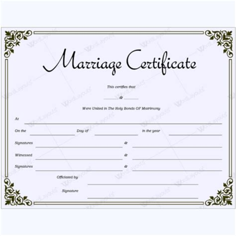marriage certificate marriage certificate templates 500 printable designs