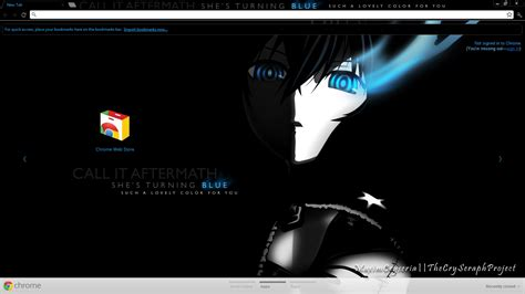 chrome theme black chrome theme brs black rock shooter by seraphimax on