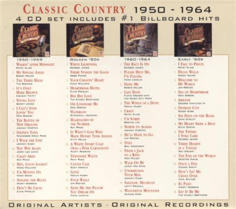 classic country 1950 1964 various artists songs