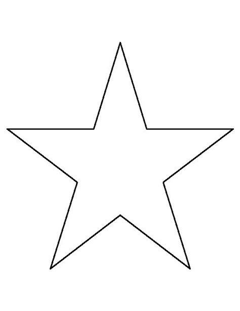 Star Pattern In C Pdf | 8 inch star pattern use the printable outline for crafts