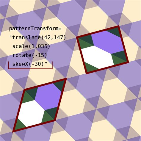 svg pattern patterntransform file a code snippet for a rhombic repetitive pattern svg