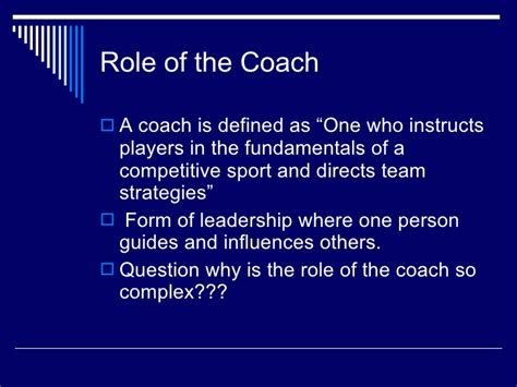 meaning of couching sports coaching intro