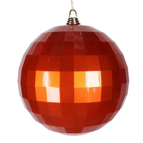 orange coloured christmas decorations vickerman 33807 orange colored tree ornament
