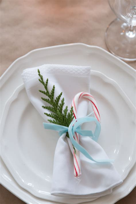 Beautiful Flatware by Evergreen Amp Candy Cane Christmas Table Setting Finding