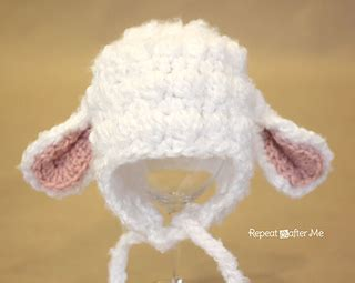 free crochet pattern 80093ad little lamb lion brand yarn ravelry lamb hat pattern by sarah zimmerman