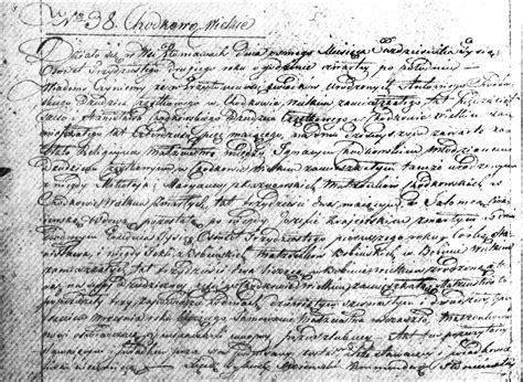 The Marriage On Record The Marriage Of Ignacy Chodkowski And Salomea Bobińska 1832 Steve S Genealogy