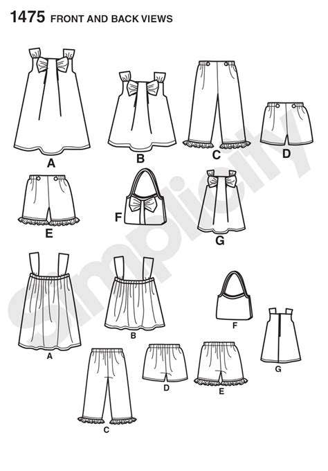 pattern matching beginning of line simplicity 1475 child s sportswear with matching 18 quot doll