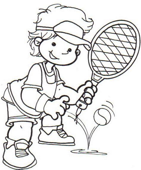 imagenes de niños jugando tenis para colorear raqueta para colorear imagui