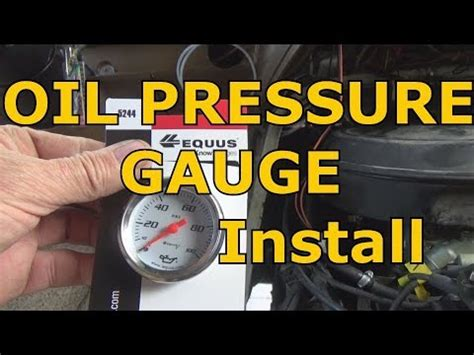 oil pressure gauge install chevy  engine youtube