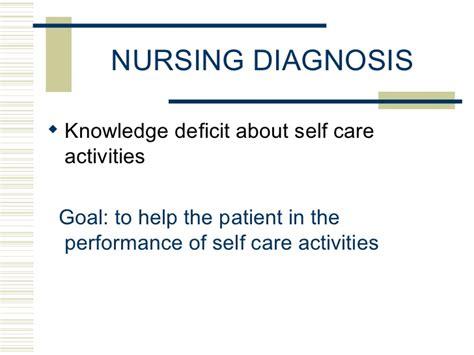 self care deficit nursing diagnosis care plan nurseslabs cabg teaching