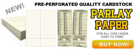 parlay card template printable custom parlay cards parlay cards now