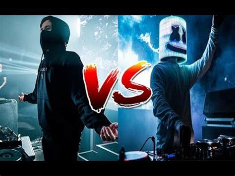 marshmello vs alan walker alan walker vs marshmello youtube