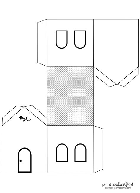 shape puzzle house b w easy cut out the shapes and house cutout craft to color coloring page print color fun