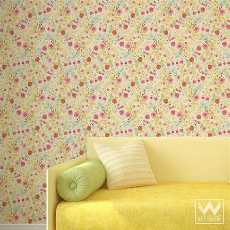 removable wallpaper floral floral removable wallpaper wallternatives