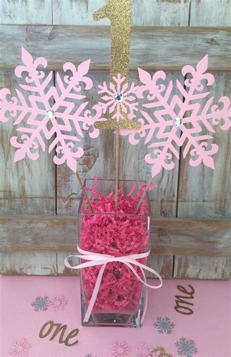 winter 1st birthday centerpieces winter onederland centerpiece frozen birthday pink gold centerpiece birthday