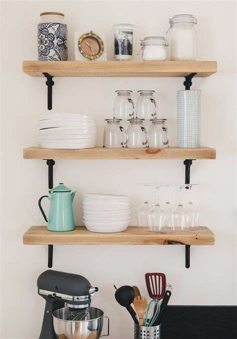 25 best ideas about kitchen shelves on open