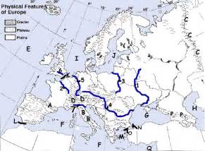Rivers Of Europe Map by Pics Photos Physical Map Of Europe Rivers